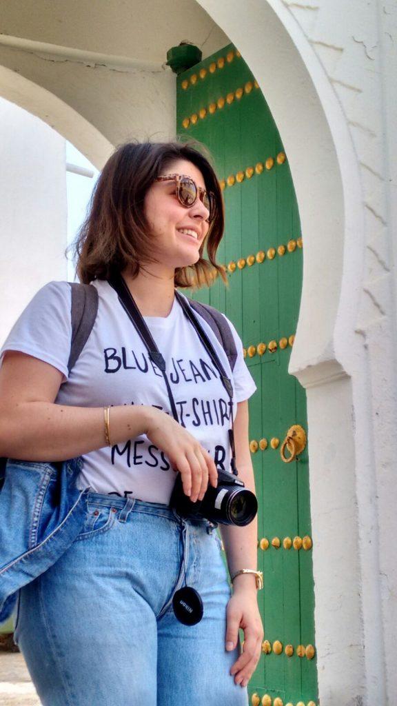 La fotógrafa fotografiada:, foto tomada en un viaje a Marruecos